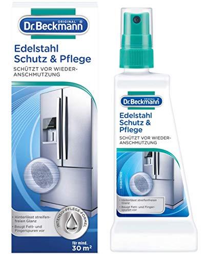 Dr. Beckmann Edelstahl Schutz und Pflege | Reinigt, pflegt und bildet einen effektiven Schutzfilm | Anti-Finger-Print-Effekt (40 ml)