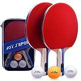 Joy.J Sport Raquette de Ping Pong, 2 Raquette de Tennis de Table + 3Balle+...