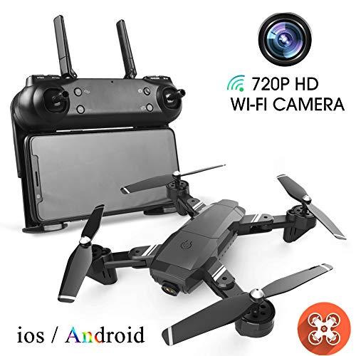 Drone con Videocamera HD 720P, Funzione Quadcopter RC Video in Tempo Reale FPV Che Mi Segue, Controllo App. Volo di Traiettoria, Principianti di Droni, Regalo di Compleanno