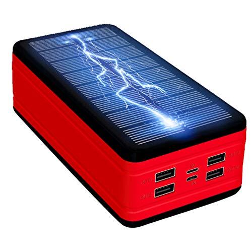 Stool Énergie Solaire Haute capacité Compact Power Bank Chargeur de téléphone Batterie Portable 99000mAh Chargeur Power Bank d'urgence Mobile Batterie Externe,Rouge