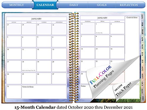 Product Image 1: Tools4Wisdom 2021 Planner 2021 Calendar - Pro Edition - December 2020-2021 Daily Planner w/Vertical Weekly Planner Layout, Monthly Planner Tabs, Stickers (Q4Pro   8.5 x 11 Hardcover with Pen)