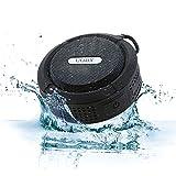 Coby Waterproof Speaker, Shower Speaker,IPX5, Wireless Portable Handheld Bluetooth Speaker Suction Cup, Built in Mic, Handsfree Speakerphone-Black
