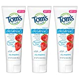 Tom's of Maine Natural Children's Fluoride-Free Toothpaste, Silly Strawberry, 5.1 oz. 3-Pack