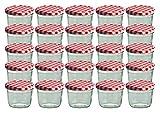Cap+CroTo 82 Lot de 25 bocaux en Verre pour Conservation de Confiture...