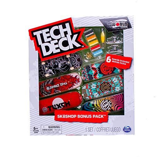 Tech-Deck Sk8shop Bonus Pack 6 Pack 96mm Fingerboards (Element)