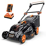 Cordless Lawn Mower, 40V Max 4.0Ah Battery, 16-Inch Brushless Lawn Mower, 50L Grass Box & Mulcher, 6 Mowing Heights, 3 Operation Heights, Low Noise- KDLM4040A