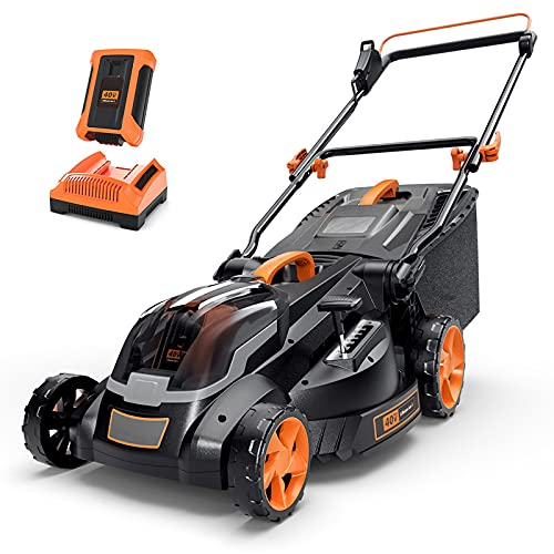 Cordless Lawn Mower, 40V Max 4.0Ah Battery, 16-Inch...