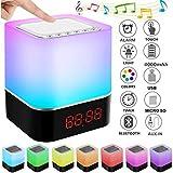 StillCool Enceinte Haut-parleur Bluetooth Portable Lampe de Chevet LED avec...
