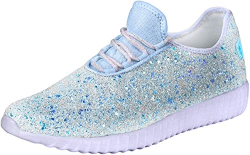 Forever Link Women's REMY-18 Glitter Fashion Sneakers
