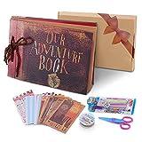 POOTACK Album Photo DIY, Scrapbook (19x30cm, 80 Pages) avec Un Ensemble de...