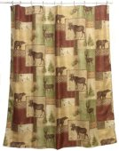 Bacova Guild Mountain Lodge Fabric Shower Curtain