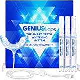 GENIUSLabs Teeth Whitening Kit, 16X LED Professional light for Whiter Teeth Without Sensitivity, Includes 3 Smart Teeth Whitening Pens, Whitens in 10 Minutes, The Smart Teeth Whitening HISMILE System