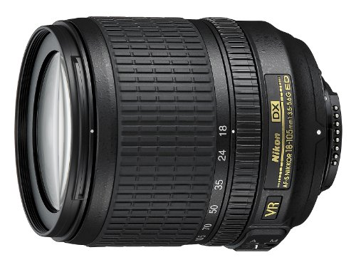 Nikon Nikkor Obiettivo AF-S DX 18-105 mm, f/3.5-5.6G ED VR, Nero [Versione EU]
