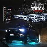 OPT7 Aura 4pc Pickup Truck Underglow LED Lighting Kit w/remote - Soundsync - Full-Color Spectrum - Underbody Rigid Aluminum - 1 Year Warranty
