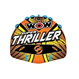 WOW Watersports Thriller Deck Tube Water Towable Tube Inflatable Boat...