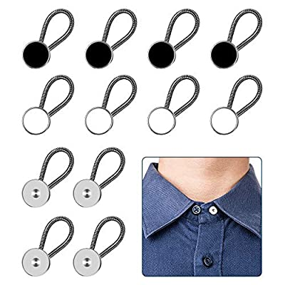 COMFORT & BREATHE EASY: Those neck extenders are can made your shirts more comfortable to wear and save money from replacing too tight neck shirts, While your weight fluctuates a bit. EASY TO USE: Simply attach stretch collar extenders to the existin...