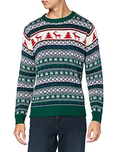 NIZZIN Elm, Suéter de Navidad Unisexo, Verde (Green 19-5420), X-Large