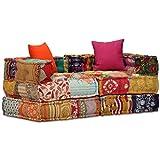 vidaXL Canapé-lit Modulaire à 2 Places Sofa de Salon Canapé Convertible...