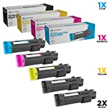 LD Compatible Toner Cartridge Replacement for Xerox Phaser 6510 & WorkCentre 6515 High Yield (2 Black, 1 Cyan, 1 Magenta, 1 Yellow, 5-Pack)