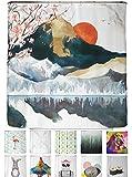 arteneur - Rideau de Douche 180x200 Japon – Rideaux de Douche en Tissu Polyester...