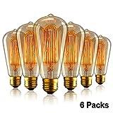 Aurora E27 Edison Ampoule Vintage, E27 Ampoules à incandescence...