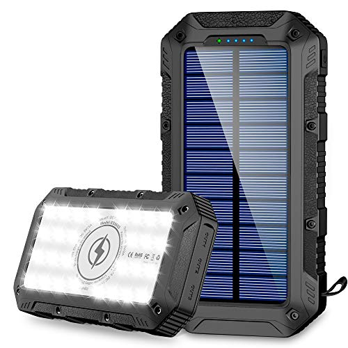 Powerbank Solare 26800mAh Caricabatterie Portatile...