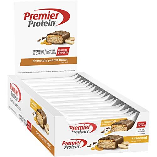 Premier Protein - Protein Bar Deluxe, Eiweißriegel, mit hohem Proteingehalt 40{63fefb319df8261631293ecc5be5d0606aa016bb52d417ce611943341d624a5f}, kohlenhydratreduziert - Chocolate Peanut Butter (18x50g)
