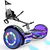 EverCross Hoverboard, Self Balancing Scooter Hoverboard with Seat Attachment, 6.5' Hover Board...
