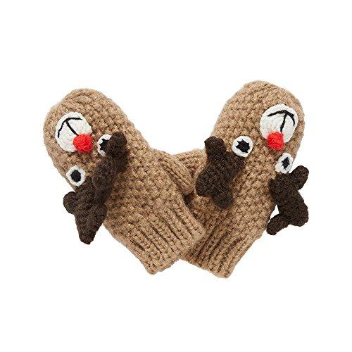 Mothercare Reindeer, Manopole Bambino, Marrone (Light Brown 599), 6-12 Mese