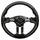 RHOX Aviator 5 Golf Cart Steering Wheel (Black Grip/Black Spokes)