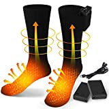 Chaussettes Chauffantes électriques USB Rechargeable,Chaussettes Chaudes...