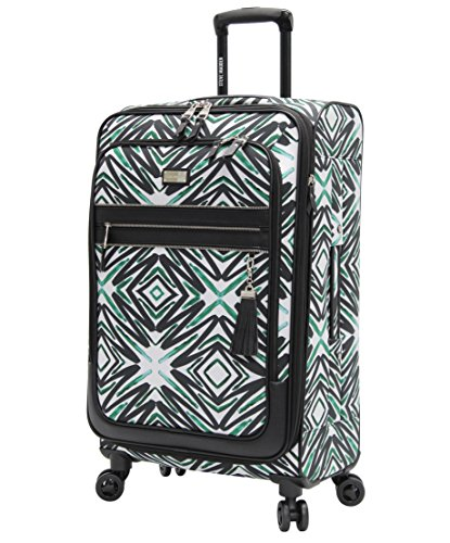 Steve Madden Designer Luggage Collection - Expandable 25 Inch Softside Bag - Durable Mid-sized Lightweight Checked Suitcase with 8-Rolling Spinner Wheels (Tribal)