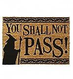 Paillasson « Le Seigneur des Anneaux You Shall Not Pass » | 40 x 60 cm pour intérieur et extérieur