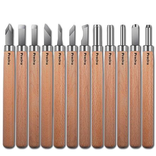 Holz Schnitzmesser, Preciva Schnitzmesser Schnitzwerkzeug Meißel Holzschnitzerei Messer 12 stück