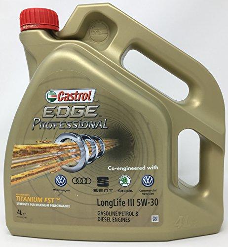 Castrol CAEP5304, Edge Professional 5W30 LLIII 4L, Olio per Motore