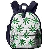 Yuanmeiju Weed Marijuana Leaf School Book Bag Niños Travel Student Mochila