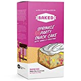 BAKED Sprinkle Party Snack Cake Mix. Makes an 8-inch cake, just add Butter, Milk & Egg. The Ultimate Easy Party Cake - with Sprinkles. (Pack of 1)