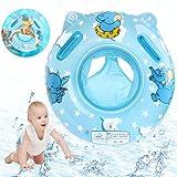O-Kinee Schwimmring Baby, Blau Elefantenschwimmring Baby Schwimmhilfe mit Schwimmsitz PVC, Swim Ring für Kleinkind Schwimmhilfe Spielzeug 6 Monate bis 36 Monate