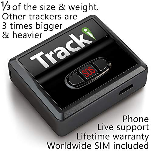 Tracki 2020 Model Mini Real time GPS Tracker. Full USA & Worldwide Coverage. For Vehicles, Car, Kids. Magnetic Hidden small Portable Tracking Device. Child, elderly, Dog pet drone motorcycle bike auto