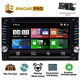 2 Din-Autoradio mit Touchscreen Bluetooth-Autoradio im Dash Car CD-Player AM /...