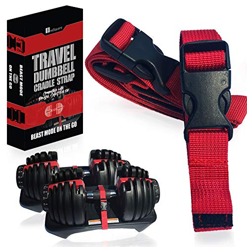 Transport Travel Straps for Dumbbells  Only Compatible with Bowflex SelectTech 552 Adjustable Dumbbells with Fitness Dial - Cradle Base to Dumbbell  Carry and Storage