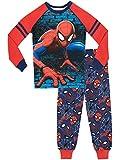 Spiderman - Ensemble De Pyjamas Bien Ajusté - l'homme Araignée - Garçon - Bleu - 6-7 Ans