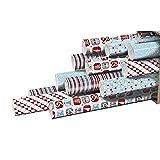 Clairefontaine 211409AMZC Carton de 12 Rouleaux Papier Cadeau Motif Noel...