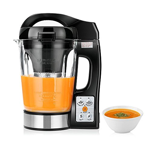 CookJoy 1,7L Suppenbereiter/Automatischer Multikocher mit Rezepte, 4 Programme, Borosilikatglas