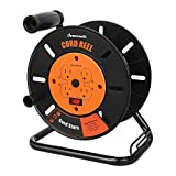 DEWENWILS Extension Cord Storage Reel with 4-Grounded Outlets, Heavy Duty Open Cord Reel for...