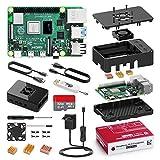 Bqeel Kit Raspberry Pi 4 Model B da 4GB RAM+MicroSD 32GB, RPi Barebone con Accessori 2 Cavo HDMI, Alimentatore 5.1V 3A con Interruttore ecc (4G+32G)