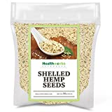 Healthworks Shelled Hemp Seeds Canadian (32 Ounces / 2 Pound) | Premium & All-Natural | Contains Omega 3 & 6, Fiber and Protein | Great with Shakes, Smoothies & Oatmeal