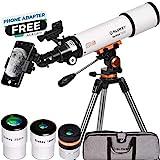 Télescope Astronomique Professionnel pour Adultes Débutants - Portable et...