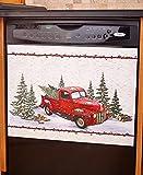 Vintage Country Red Pick Up Truck Dishwasher Magnet - Home Kitchen Decoration