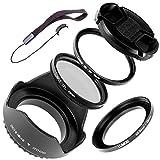 LUMOS Set d'accessoires pour Sony Alpha Kit 6000, 6300 et 6500 | avec bague d'adaptation 40,5-49 mm,...